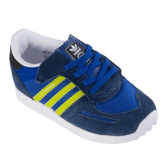 Scarpa Adidas La Trainer Baby blu
