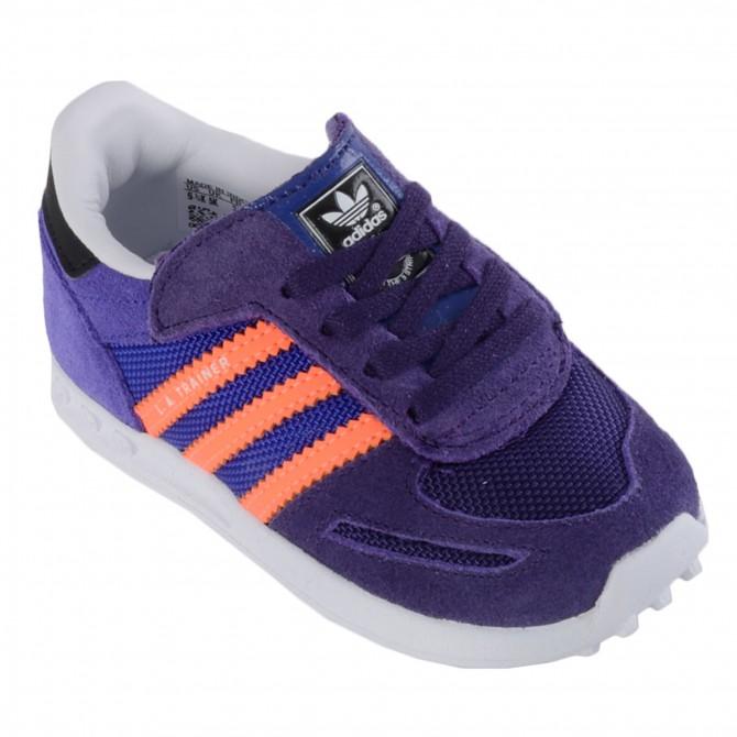 Scarpa Adidas La Trainer Baby viola