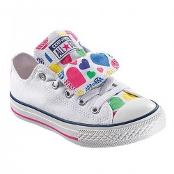 chaussures Converse Ct As Ox Double Tongue Canvas Graphic basse Girl