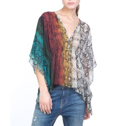 camisa Manila Grace impresión pitón mujer