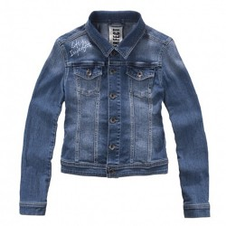 chaqueta denim Imperfect IW15S04KJ mujer