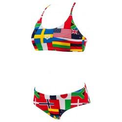 Bikini Arena Flags woman