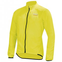 Giacca ciclismo antivento Briko Piuma giallo