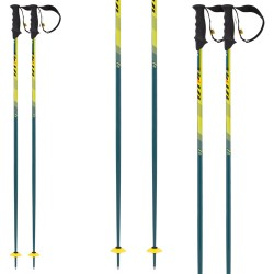 ski poles Volkl Speed green-yellow