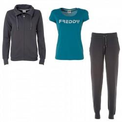 Traje gimnasia pantalones abajo Freddy + t-shirt mujer