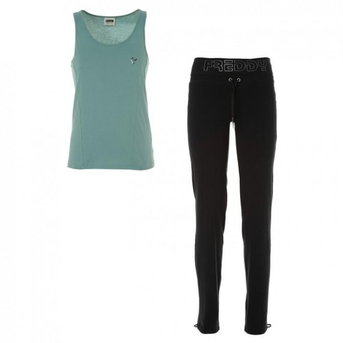 Completo Freddy Yoga pantalone + canotta Donna