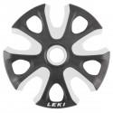 roues Leki pour bâtons ski Big Mountain blanc-noir