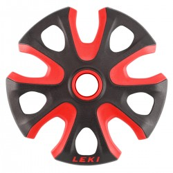 ruedas Leki para baston esqui Big Mountain rojo-nigro