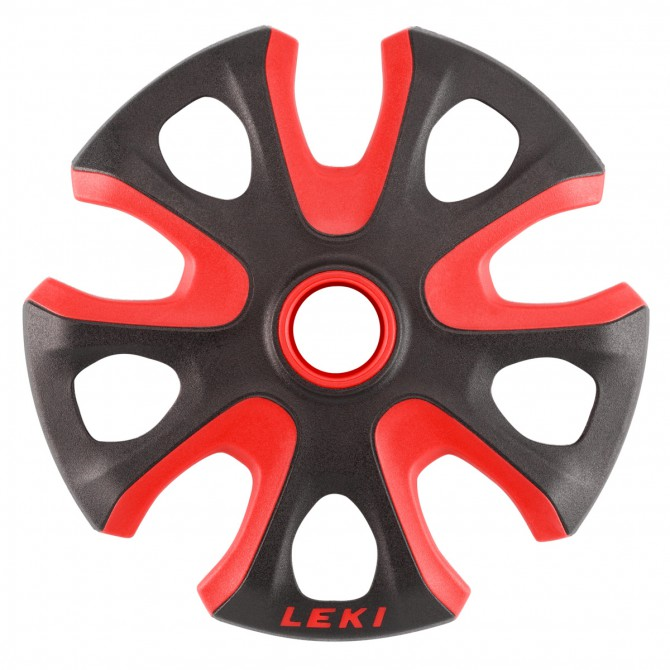Rondelle Leki per bastoni sci Big Mountain rosso-nero