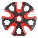 ruedas Leki para baston esqui Big Mountain rojo-nigro