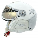 casque ski Hammer H2 Soft Alluminium + visière