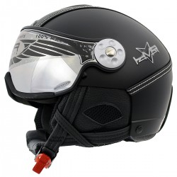 Casco sci Hammer H2 Soft Leather Finish + visiera