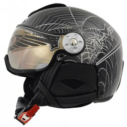 casque ski Hammer H2 Soft Spyder + visière