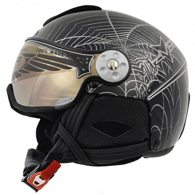 Casco sci Hammer H2 Soft Spyder + visiera