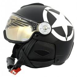 casque ski Hammer H2 Soft Star + visière
