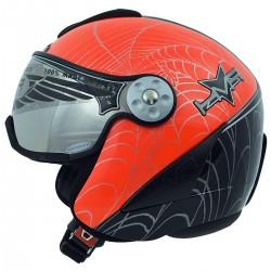 casque ski Hammer H2 Spyder + visière