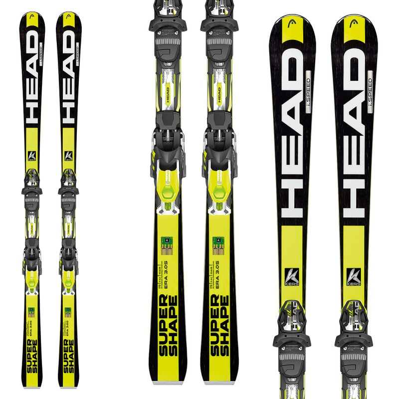 Ski head isupershape speed bindings prx race carve skis