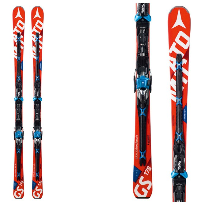 Sci Atomic Redster Doubledeck Gs Mtl + attacchi X12 Tl Ome rosso-bianco-nero