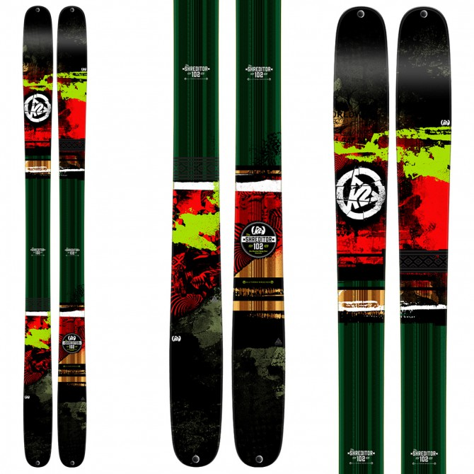 Ski K2 Shreditor 102 + fixations Vist V614