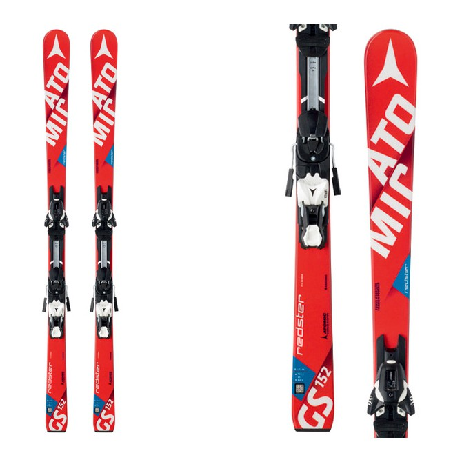Ski Atomic Redster Fis Gs Jr Smt + fixations Xtl 12 Race rouge-blanc