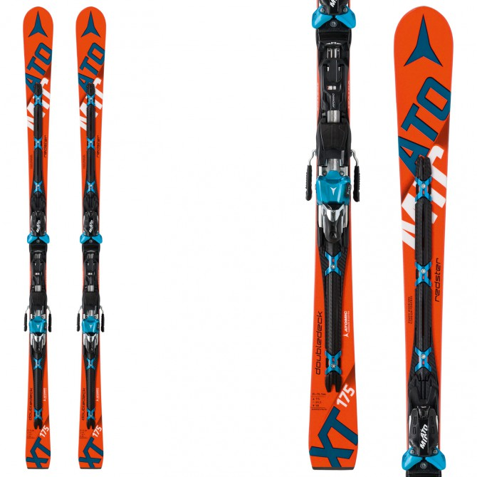 Sci Atomic Redster Doubledeck Xt + attacchi X 12 Tl rosso-bianco-nero