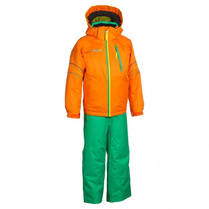 Tuta sci Phenix Suku-suku Sogne arancione-verde