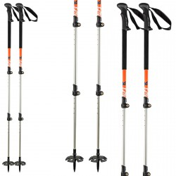 Bâtons de ski Head Vario 3 parties orange-noir
