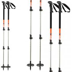 Ski poles Head Vario 3 piece orange-black