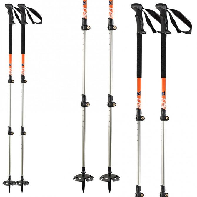 Bastones de esquí Head Vario 3 piezas naranja-negro