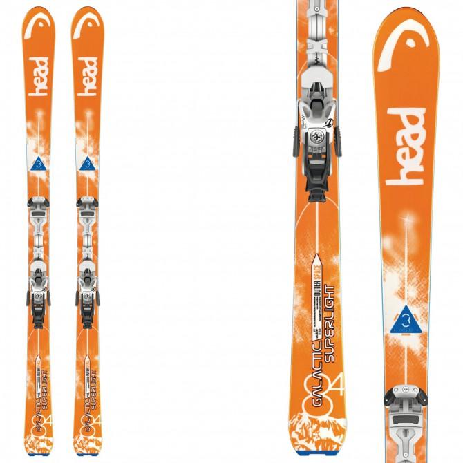 Ski Head Galactic 84 Sw Super Light + fixations Ambition 12m + plaque Barke Ambition 95 orange-blanc