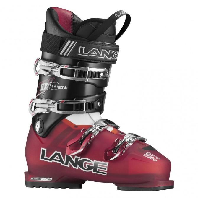 Chaussures ski Lange Sx Rtl rouge transparent-noir