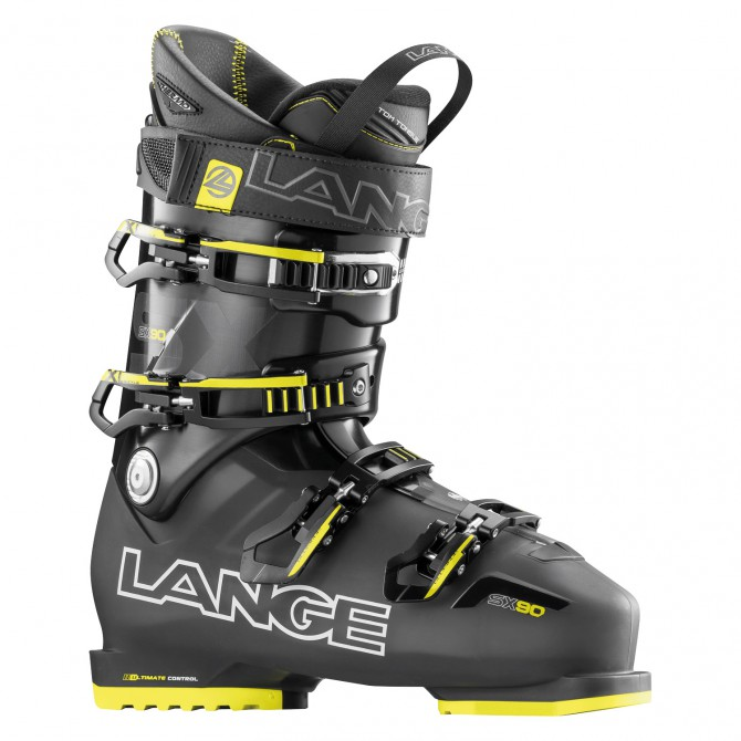 Chaussures ski Lange Sx 90 anthracite transparent-jaune