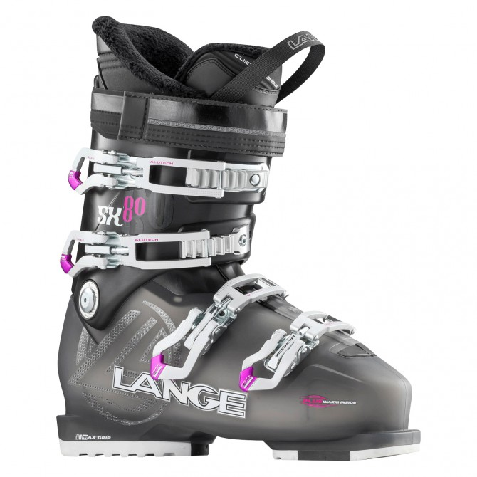 Chaussures ski Lange 80 W anthracite transparent-rouge