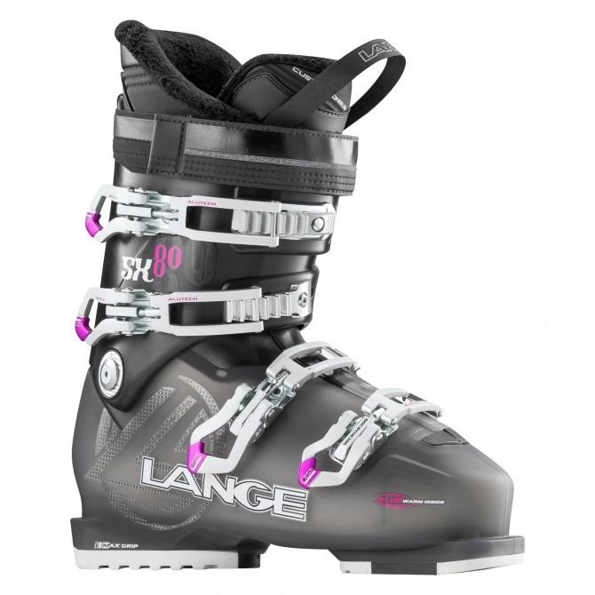 Ski boots Lange Sx 80 W transparent anthracite-red