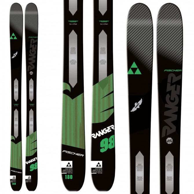 Ski Fischer Ranger 98 Ti + bindings Attack 13 black-green