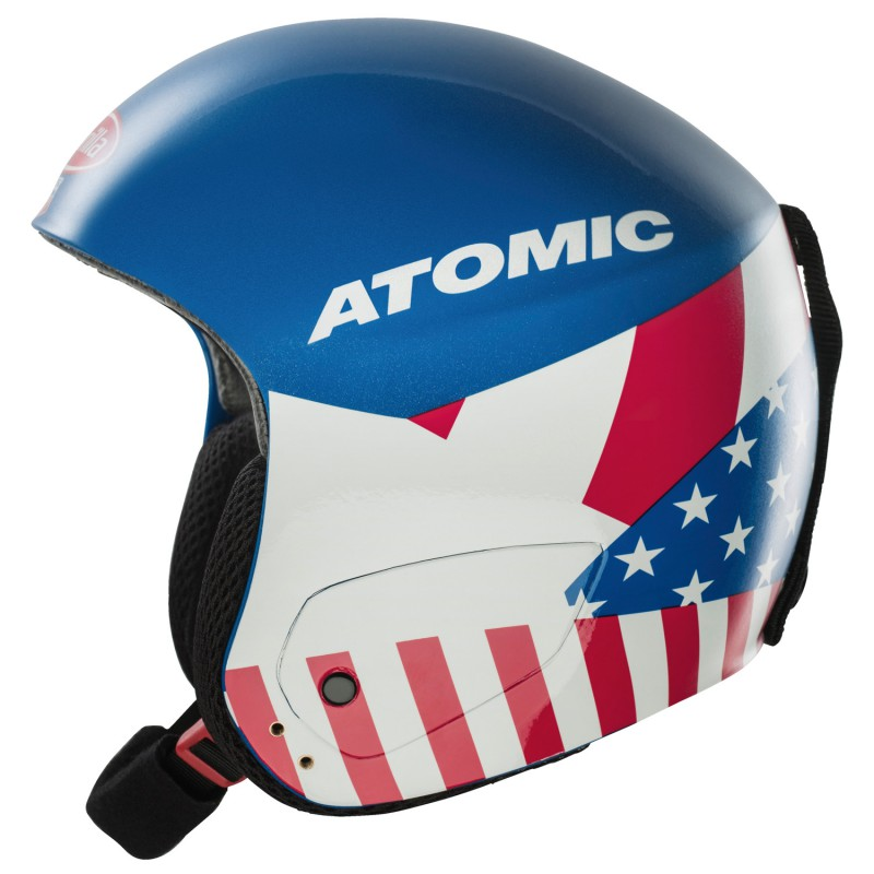 Casco sci Atomic Redster Mikaela Jr Replica bandiera americana