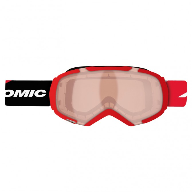 Maschera sci Atomic Revel S Racing rosso
