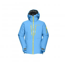 Ski jacket Lofoten Gtx light blue-yellow