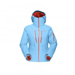 Ski jacket Lofoten Gtx light blue-orange