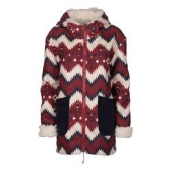 Coat Billabong Magda Donna red-blue-grey