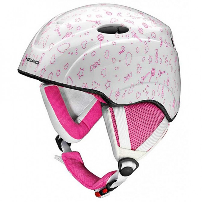 Snow Helmet Head Star pink