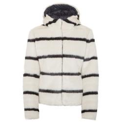 Down jacket Colmar Originals Eltor reversible fur Woman white-black
