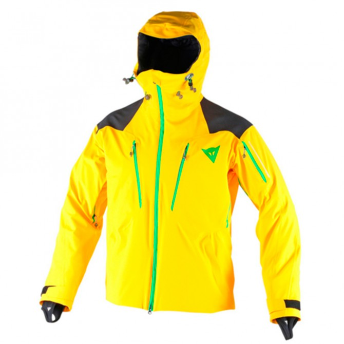 Ski Jacket Dainese Proteo D-Dry yellow-black-green