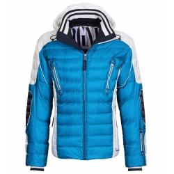 Chaqueta de pluma de esquí Bogner Ruven-D Hombre azul-blanco