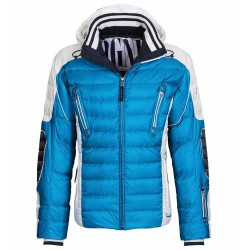 Down ski jacket Bogner Ruven-D Man blue-white