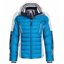 Doudoune ski Bogner Ruven-D Homme bleu-blanc