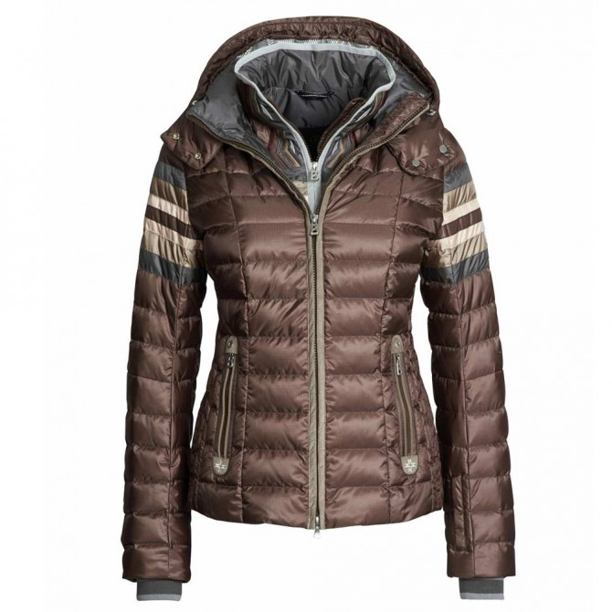 Ski jacket Bogner Winona-D Woman brown-pink-silver