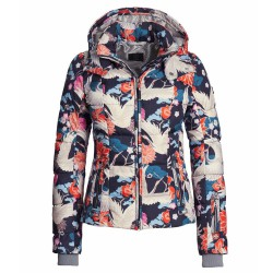Ski jacket Bogner Mabel-D Woman blue-orange-white