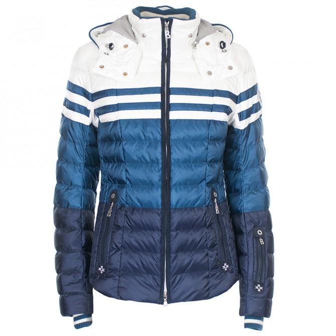 Veste ski Bogner Bogner Tea-D Femme bleu-blanc