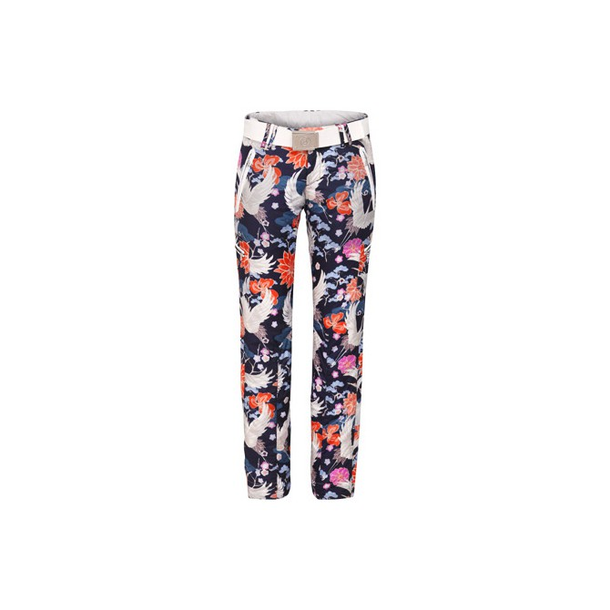 Pantalones de esquí Bogner Terri Mujer azul-aranja-blanco